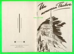 PUBLICITÉ - UN NOUVEAU THABOR EN 1944 - CHAPELLE DÉDIÉE À NOTRE-DAME DU SAINT-SACREMENT -  TOUS LES DOCUMENTS COMPLETS - - Publicités