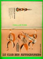LIVRE - RADIO-CANADA TV PRÉSENTE LE CLUB DES AUTOGRAPHE AVEC PIERRE PAQUETTE & JEAN DURAND EN 1960 - LEÇONS DE DANSE - Cinéma/Télévision