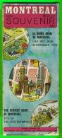 MAPS, CARTES ROUTIÈRES - MONTRÉAL CARTE SOUVENIR 1975 - VOIR PARTIE DE LA CARTE - - Cartes Routières