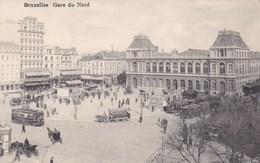 Bruxelles, Gare Du Nord, Tram, Tramway, Affiche Dunlop (pk46667) - Spoorwegen, Stations