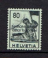 SWITZERLAND...Official...European United Nations...used - Dienstzegels