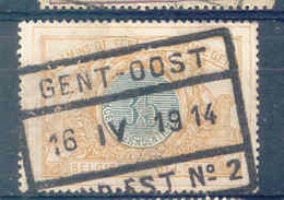 A729  Belgie Spoorwegen Chemin De Fer  Stempel  GENT OOST  GAND EST - 1895-1913