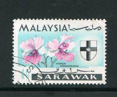 MALAISIE- SARAWAK- Y&T N°213- Oblitéré (fleurs) - Gran Bretaña (antiguas Colonias Y Protectorados)