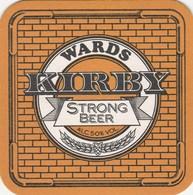 UNUSED BEERMAT - WARDS BREWERY (SHEFFIELD, ENGLAND) - KIRBY STRONG ALE - (Cat 024) - (1988) - Portavasos