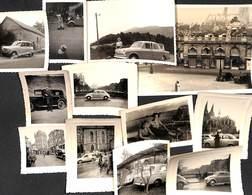 Petit Lot 12 Photographies Automobile Oldtimer (animée, Cox, R4,...) - Automobile