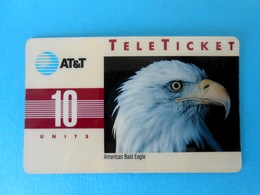 AMERICAN BALD EAGLE ( USA - AT&T Card ) Eagle Aigle Adler Aguila Aquila Birds Of Prey Raptors Raptor Bird Rapace Rapaces - AT&T