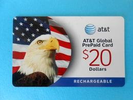AMERICAN BALD EAGLE ( USA - AT&T Card ) Eagle Aigle Adler Aguila Aquila Birds Of Prey Raptors Raptor Bird Rapace Rapaces - United States