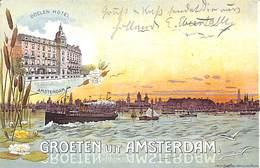 Groeten Uit Amsterdam - Doelen Hotel (Litho) - Amsterdam