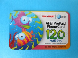 FISHES ...... USA - AT&T Prepaid Phone Card - 120. Minutes  * United States - United States