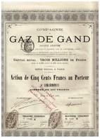 Ancienne Action - Compagnie Du Gaz De Gand - Titre De 1880 - Electricité & Gaz