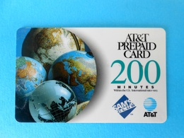 200. MINUTES  ...... USA - AT&T Prepaid Phone Card  * United States - AT&T