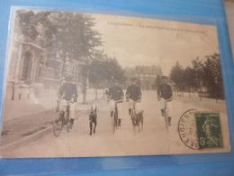 CP Valenciennes Une Ronde D'agents Cycliste Et Chiens Policiers - Police - Gendarmerie