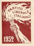 ** TESSERA.-PARTITO LIBERALE ITALIANO.** - Altri