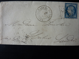 27.05.18_LSC De  La Rade De Toulon (78) GC 3076  Pour Habas Variété Sur N°60 TII,ind 18 §§ COTE 300€ - Postmark Collection (Covers)