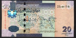 LIBIA (LIBYA) :  20  Dinar – P74 - 2009 - UNC - Libia