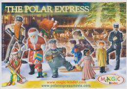 Cartina Istruzioni Kinder - The Polar Express (fronte E Retro) - Instructions