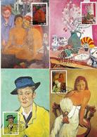 Sao Tome 1978 Essen Museum Paintings Gauguin Matisse Van Gogh Braque 5 Maxicards - Sao Tome And Principe