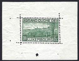 1923 Block 1 II, 10 Fr Dunkelgrün, Top (2 Scans) - Ungebraucht