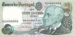 PORTUGAL 20 ESCUDOS 1978  UNC P 176 B - Portugal