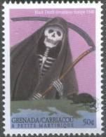 Black Death / Plague Devastates Europe In 1348, Rat, Rodent, Disease, Skelton Skull MNH Grenada / Carriacou - Maladies
