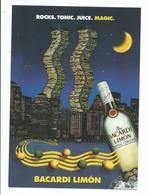 CPM PUBLICITAIRE Alcool Rhum Baccardi Limon - Ed Max Racks - Reclame