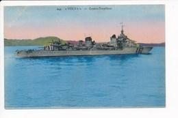 Carte Du Contre Torpilleur  Volta ( Navire De Guerre )( Recto Verso ) - Guerre