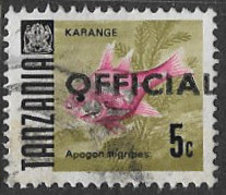 Tanzania SG O32 1973 Official 5c Good/fine Used [37/30850/2D] - Kenya (1963-...)