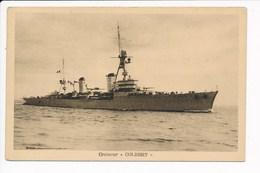 Carte Du Croiseur  Colbert  ( Navire De Guerre )( Recto Verso ) - Warships