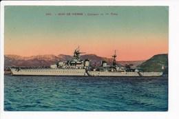Carte Du Croiseur Jean De Vienne  ( Navire De Guerre )( Recto Verso ) - Guerre
