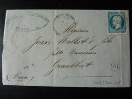 27.05.18_LAC De AUBAIS Cachet Perlé De Aigues-vives Boite Rurale,texte - Postmark Collection (Covers)