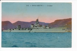 Carte Du Croiseur Emile Bertin ( Navire De Guerre )( Recto Verso ) - Guerre