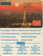 FRANCE - The Eiffel Tower, Cartes 96, NBS Demo Card - France
