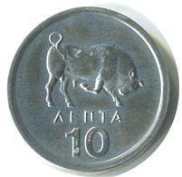 Greece - 10 Lepta 1976 UNC - Ghana