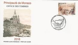 """MONACO -EUROPA 2018 -""""PUENTES.- BRIDGES - BRÜCKEN - PONTS"""" - FDC  De La SERIE - 2018"""
