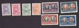 Guatemala, Scott #343-346, 350-353, Used, Rivera, Ovalle And Palma, Issued 1952-53 - Guatemala