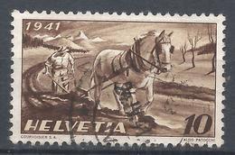 Switzerland 1941. Scott #279 (U) Farmer Plowing * - Suisse