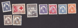 Guatemala, Scott #354, 360, 365, 367-371, 380, Used, Red Cross, Industry, Quetzal, Issued 1954-60 - Guatemala