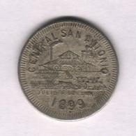 Caribe  / Cuba TOKEN CENTRAL SAN ANTONIO 1899 10 CENTAVOS CuNi 24mm - Otros