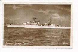 Carte Du Croiseur Georges Leygues ( Navire De Guerre  )( Format C.P.A ) ( Recto Verso ) - Guerre