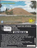 GREECE - Marathon/Tomb Of Marathon, Amimex Prepaid Card 10 Euro(807 1923), Tirage %20000, 06/03, Used - Greece