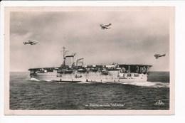 Carte Du Porte Avions Béarn  Avion  ( Navire De Guerre )( Format C.P.A ) ( Recto Verso ) - Guerre