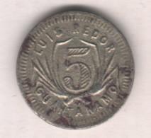 Caribe  / Cuba TOKEN CENTRAL SAN ANTONIO 1899 5 CENTAVOS CuNi 16mm RARE - Otros