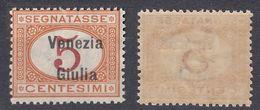 VENEZIA GIULIA, OCCUPAZIONE ITALIANA - 1918 - Segnatasse Nuovo, Unificato 1 - 8. WW I Occupation
