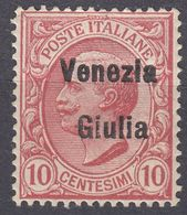 VENEZIA GIULIA, OCCUPAZIONE ITALIANA - 1918 - Unificato 22, Nuovo. - 8. WW I Occupation