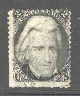 1863  Jackson  2 Cents  Sc 73  Used - 1847-99 Emissioni Generali