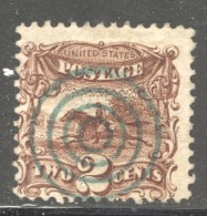 1869  Post Horse And Rider 2 Cents  Sc 113 Used Beautiful Bull'seye  Cancel - 1847-99 Emissions Générales