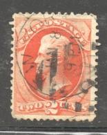 1875  Jackson 2 Cents Sc 178  Used - Usati