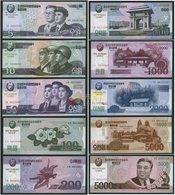 Korea Commemorative 2002 2008 2013 5 10 50 100 200 500 1000 2000 5000won 10pcs UNC - Korea, North