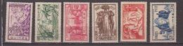 GUINEE            N°  YVERT  :   119/124  NEUF AVEC  CHARNIERES      ( Ch08 ) - Guinée Française (1892-1944)