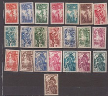 GUINEE            N°  YVERT  :   125/146  NEUF AVEC  CHARNIERES      ( Ch08 ) - Guinée Française (1892-1944)